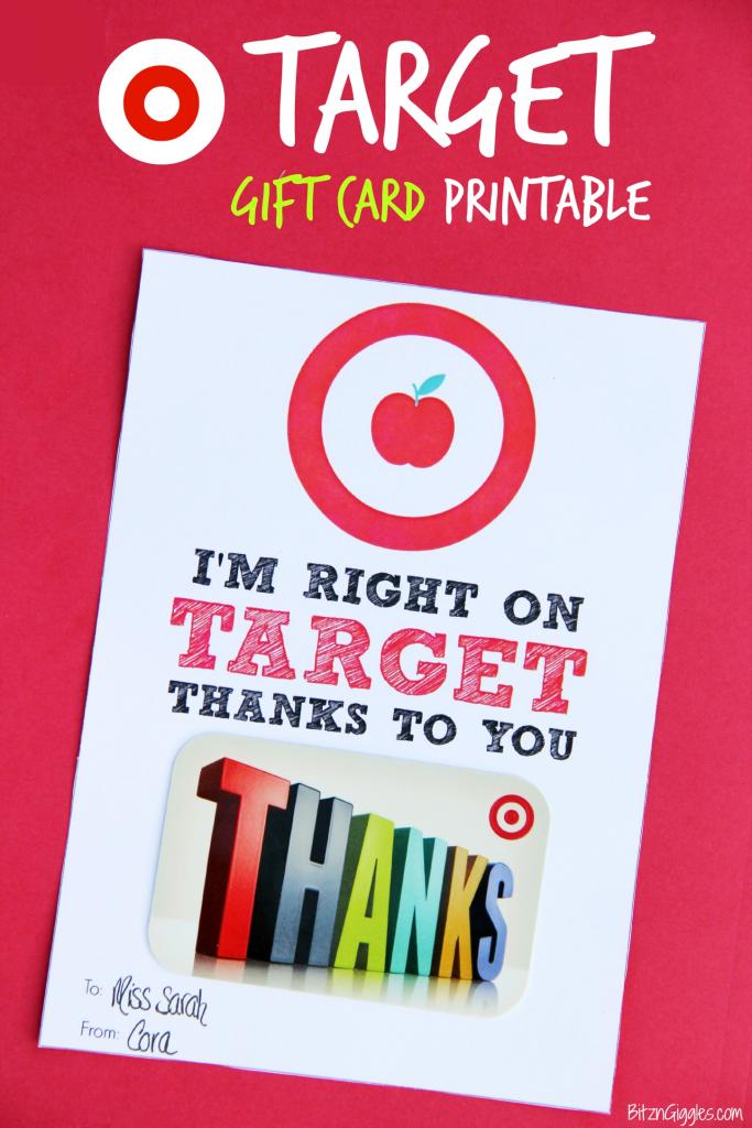Target Gift Card Printable - Teacher Appreciation - Bitz & Giggles | Printable Target Gift Card