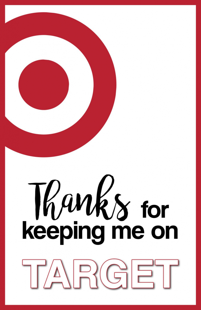 Target Thank You Cards Free Printable | Gifts | Teacher Appreciation | Printable Target Gift Card