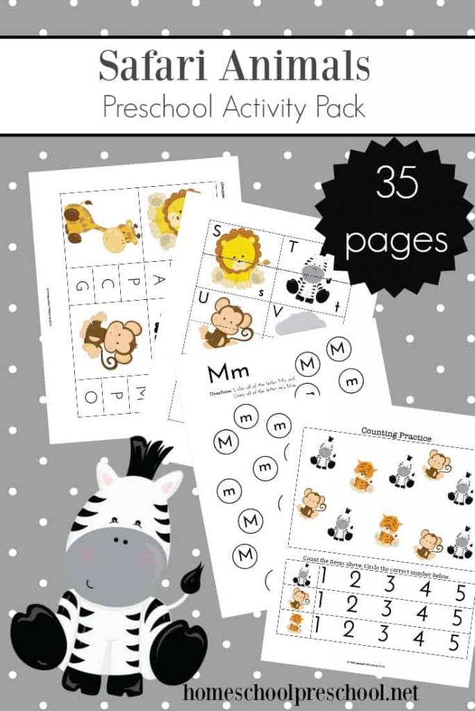 Teach Preschool With Free Jungle Animal Printables   Animal Matching Cards Printable
