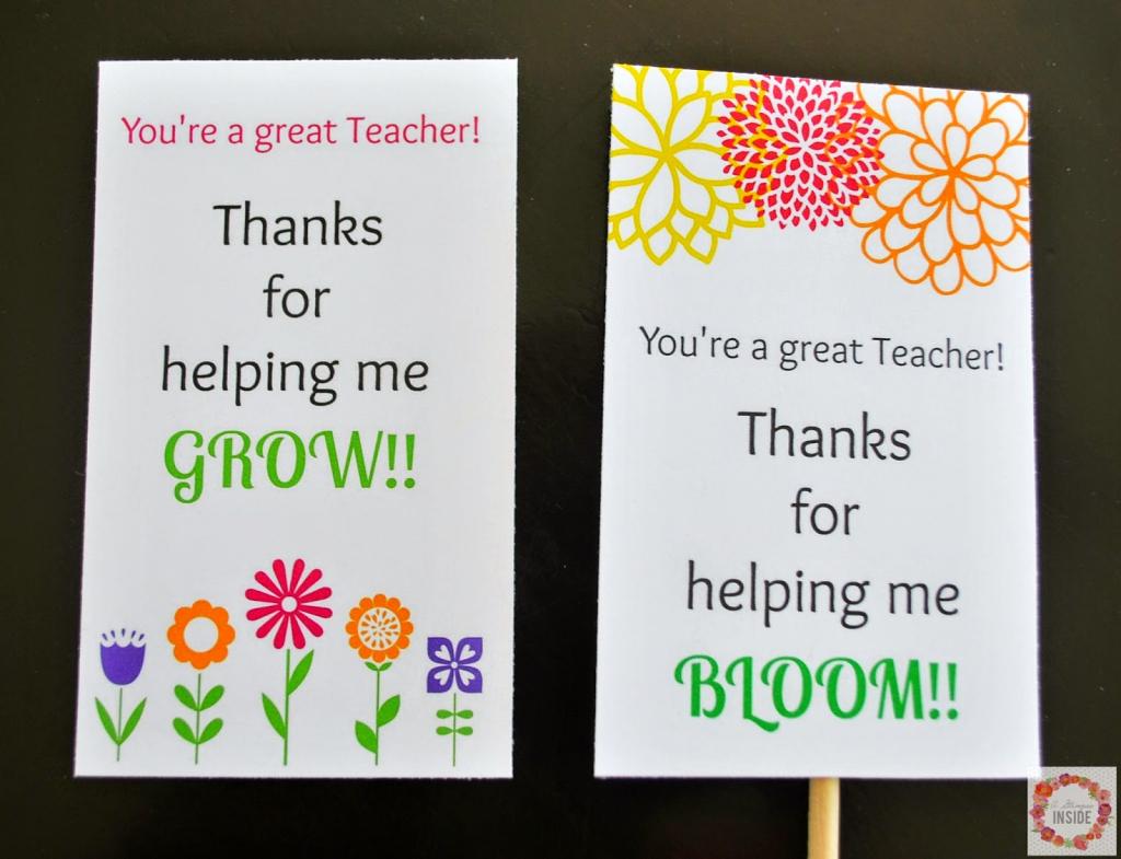 Teacher Appreciation Card Printables | A Glimpse Inside | Free Printable Teacher Appreciation Greeting Cards