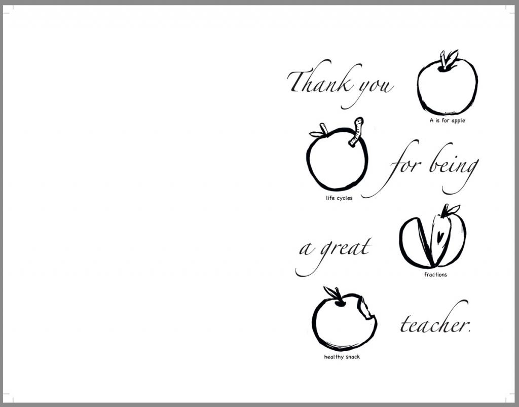 Teacher Appreciation Coloring Pages Free - Mauracapps   Free Printable Teacher Appreciation Cards To Color
