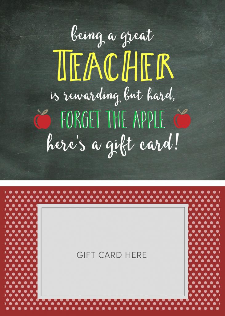 Teacher Appreciation Gift Card Holder - Lil' Luna | Free Printable Teacher Appreciation Greeting Cards