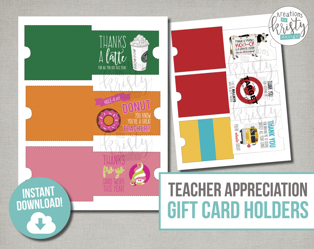 Teacher Appreciation Gift Card Holders Printable File | Etsy | Teacher Appreciation Gift Card Holder Printable