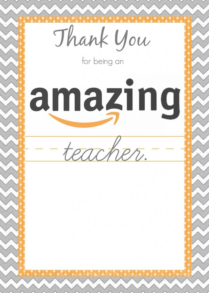 Teacher Gift Card Ideas & Gift Card Holder Printables - Fabulessly | Amazon Printable Gift Card