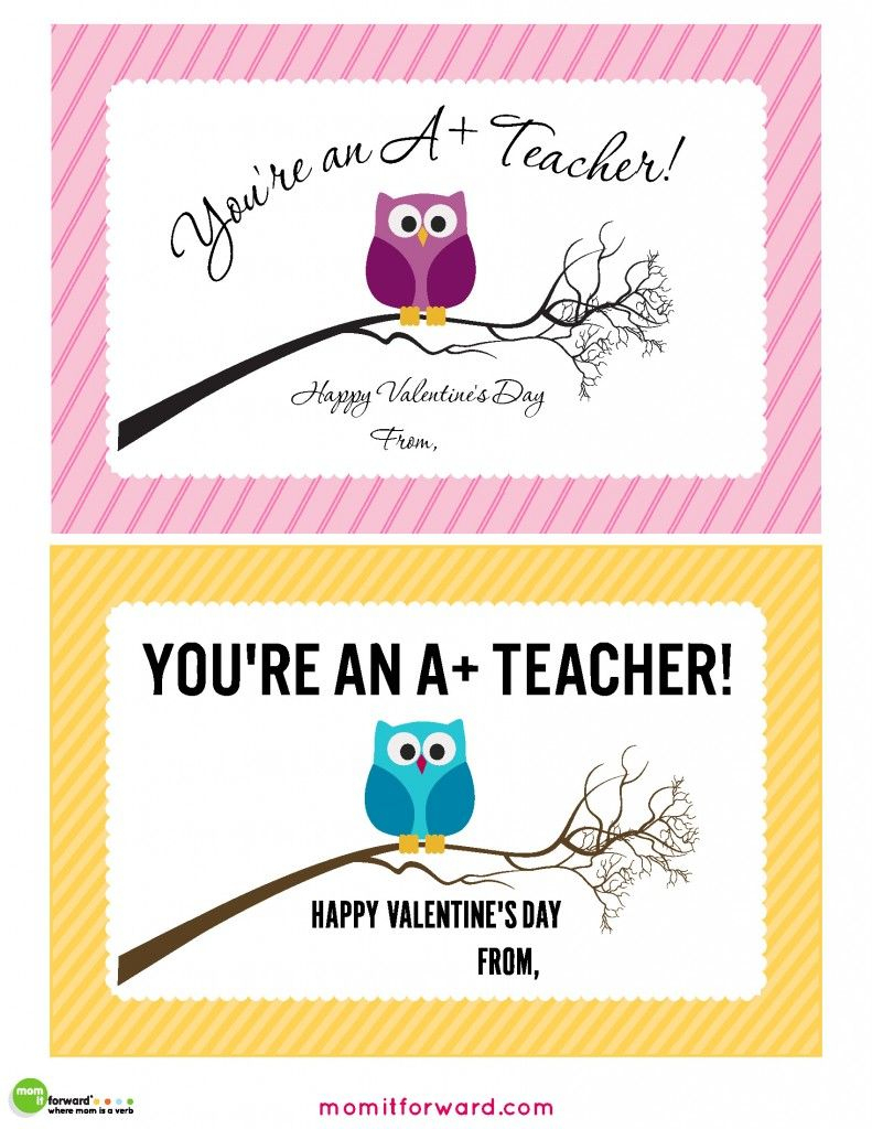 Teacher Valentines Day Cards Printable   Gifts   Teacher Valentine   Printable Valentine Cards For Teachers