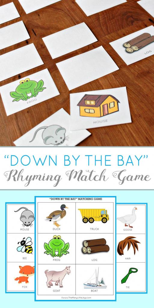 Teaching Kids To Rhyme: Rhyming Match Game (Free Printable   Rhyming Picture Cards Printable
