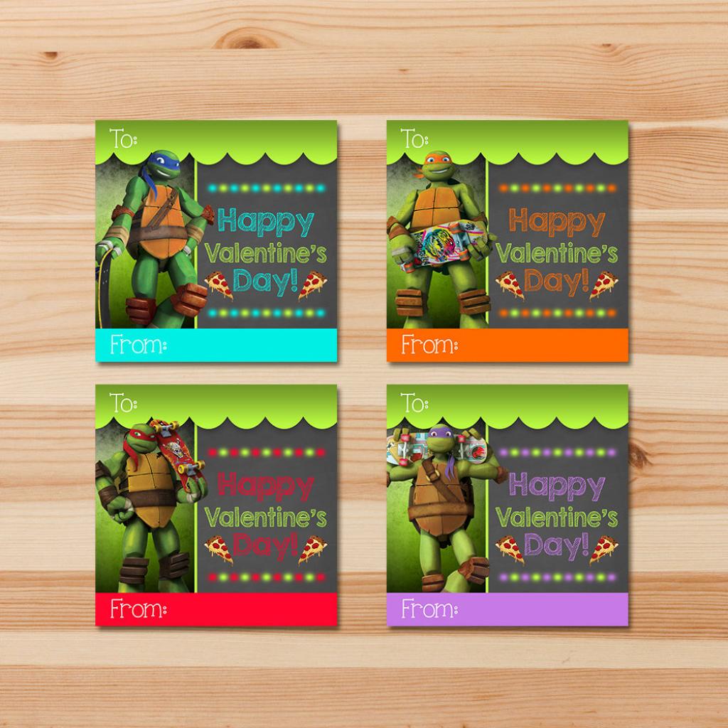 Teenage Mutant Ninja Turtle Valentine's Day Cards | Etsy | Teenage Mutant Ninja Turtles Printable Valentines Day Cards