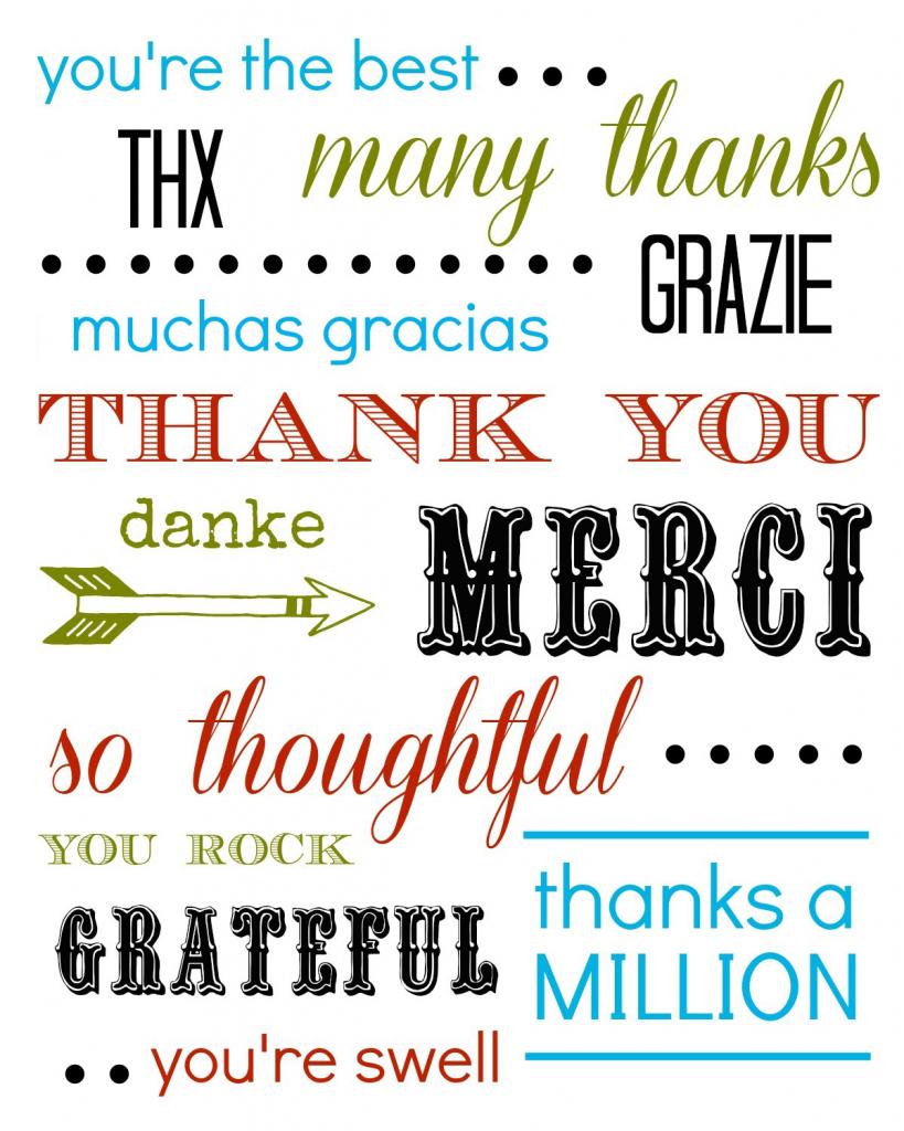 Thank You Card Free Printable   Free Printable Thank You Cards
