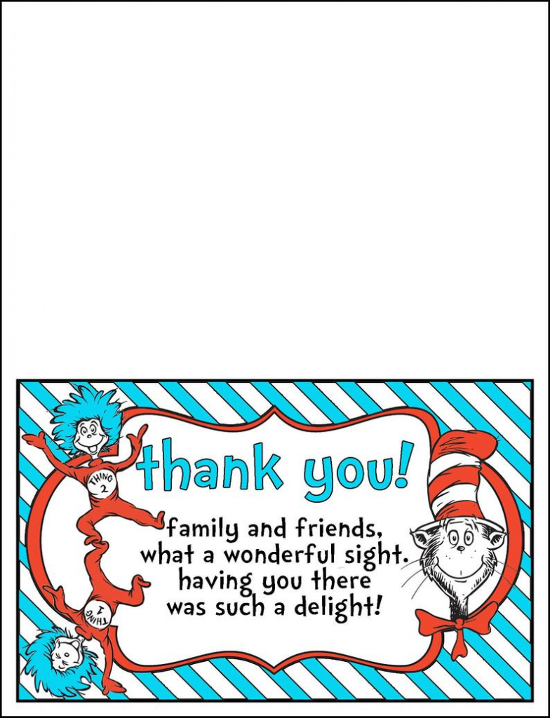 Thank You Cards Dr. Seuss Theme Printable | Etsy | Printable Dr Seuss Thank You Cards