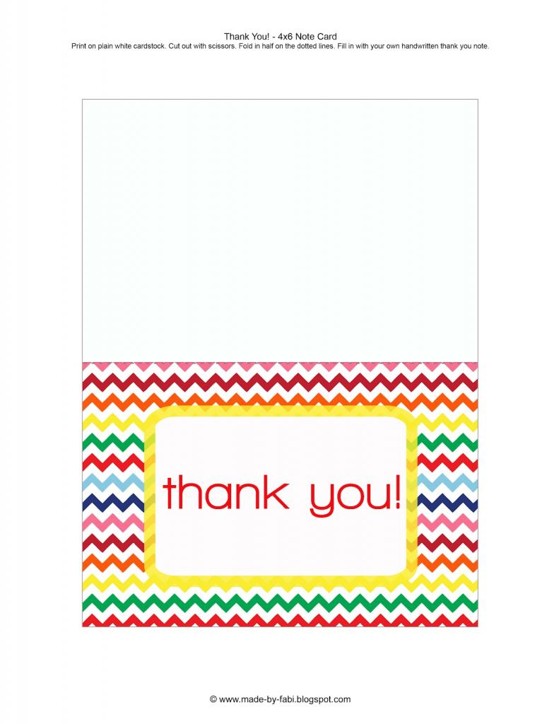 Thank You Cards Printable - Under.bergdorfbib.co   Free Printable Thank You Cards