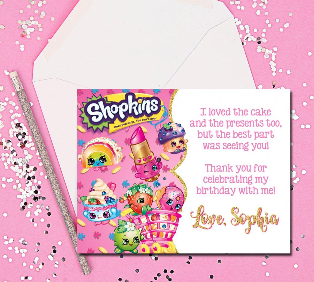 Thank You Cards Shopkins Thank You Cards Shopkins Thank You   Etsy   Free Printable Shopkins Thank You Cards