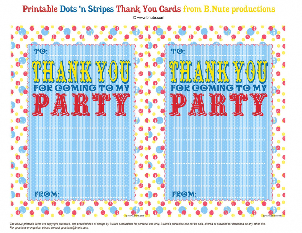 Thank You For Coming To My Party | Party Ideas | Printable Birthday | Thank You For Coming Cards Printable
