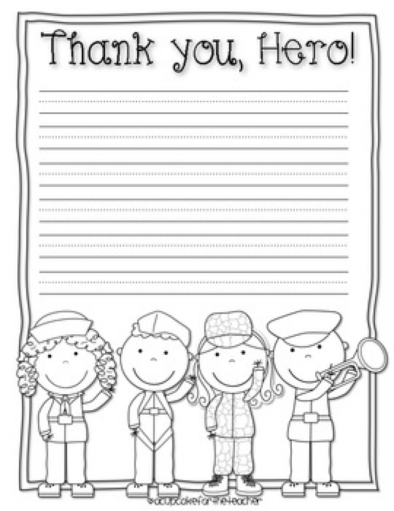 Thank You, Hero! {Free Printables}A Cupcake For The Teacher | Tpt In | Military Thank You Cards Free Printable