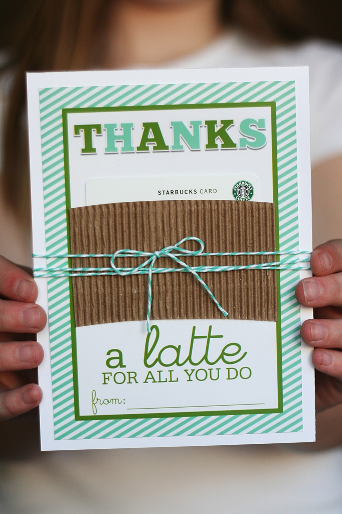 "Thanks A ""latte"" - Eighteen25 | Printable Starbucks Gift Card"