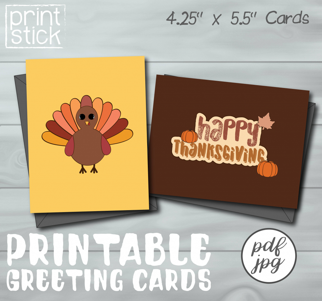 Thanksgiving Card Printable Greeting Card | Etsy | Thanksgiving Printable Greeting Cards