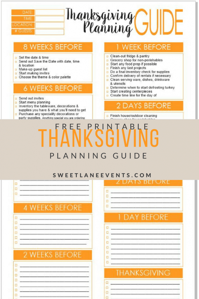 Thanksgiving Checklist Planning Guide Halloween Pinterest Template | Printable Recipe Card Templates Martha Stewart