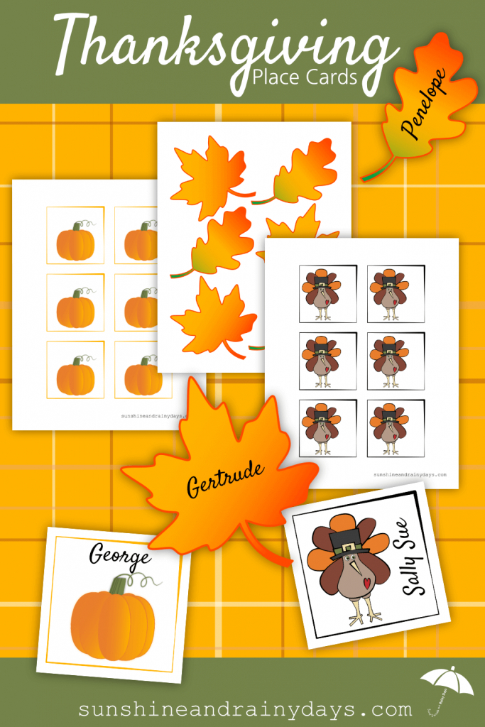 Thanksgiving Place Card Printable | Thanksgiving Printables | Free Printable Thanksgiving Place Cards To Color