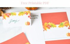 """Thanksgiving Table Place Cards Free Printable 