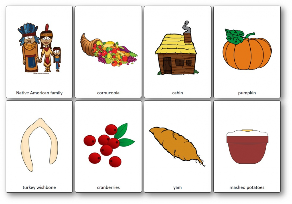Thansgiving Flashcards – Free Printable Flashcards To Download | Printable Picture Cards For Kindergarten