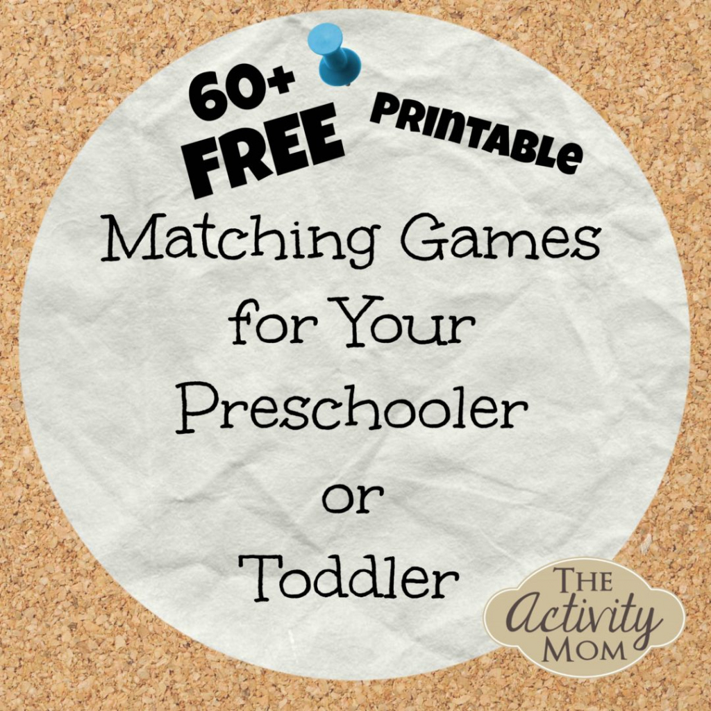 The Activity Mom - Free Printable Matching Games | Free Printable Matching Cards