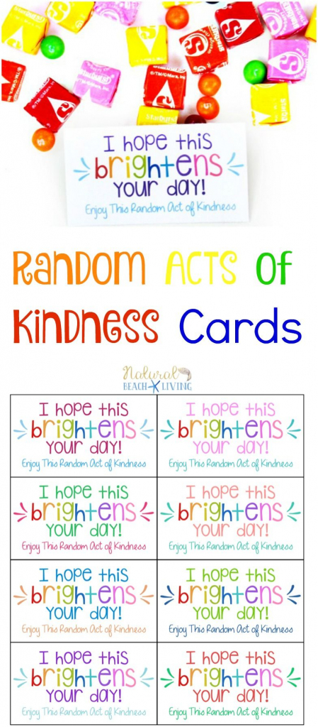 The Best Random Acts Of Kindness Printable Cards Free | Natural | Free Printable Kindness Cards