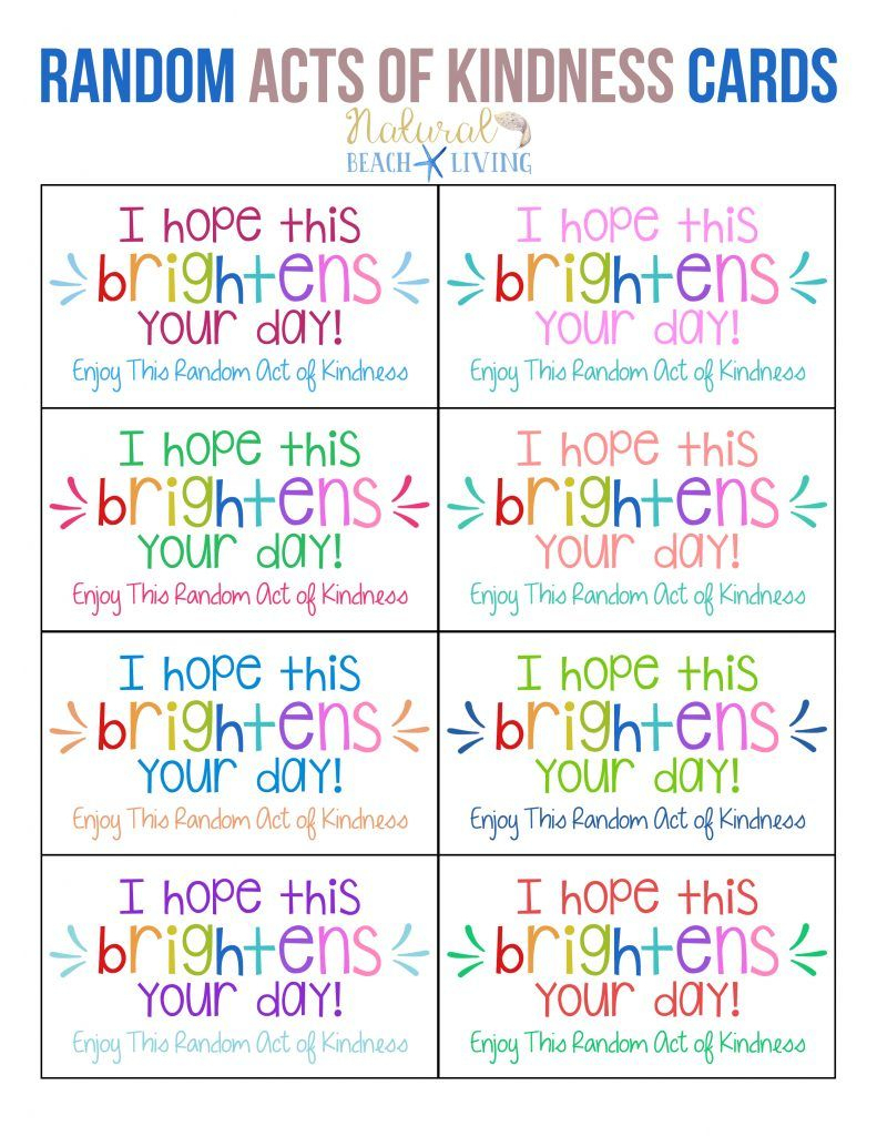 The Best Random Acts Of Kindness Printable Cards Free | Parenting | Free Printable Kindness Cards