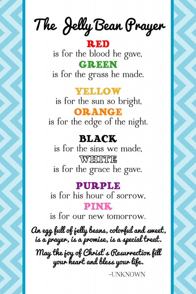 The Creative World Of Great Day Graphics & Design: Free Printable | Jelly Bean Prayer Printable Cards