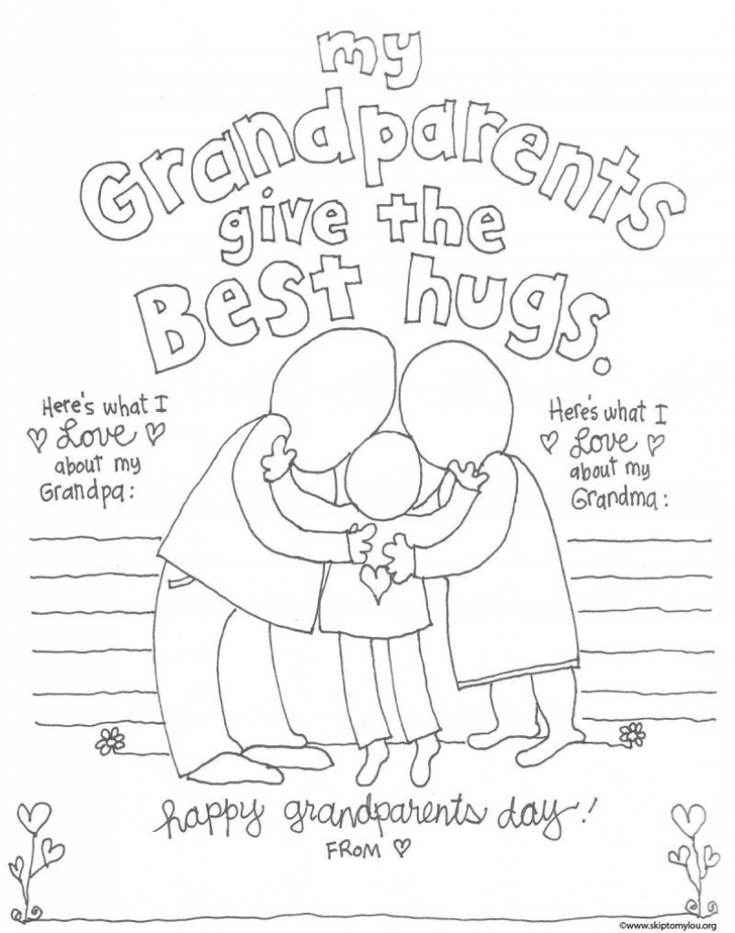 The Cutest Grandparents Day Coloring Pages | Free Printables | Grandparents Day Cards Printable