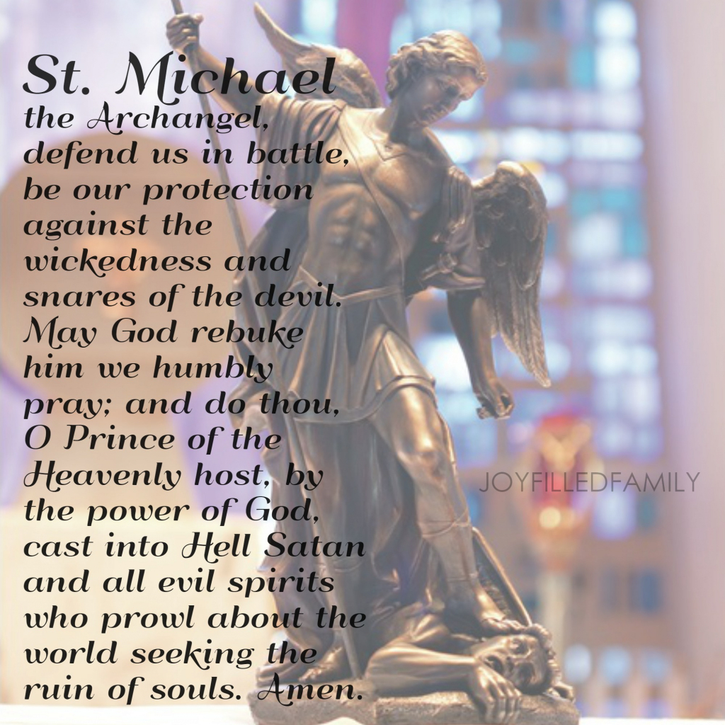The Dedication Of St. Michael The Archangel   St Michael Prayer Card Printable