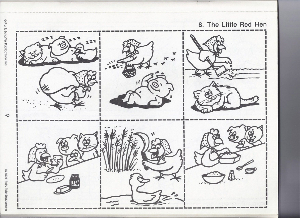 The Little Red Hen   Worksheets   Little Red Hen Activities, Little   Little Red Hen Sequencing Cards Printable