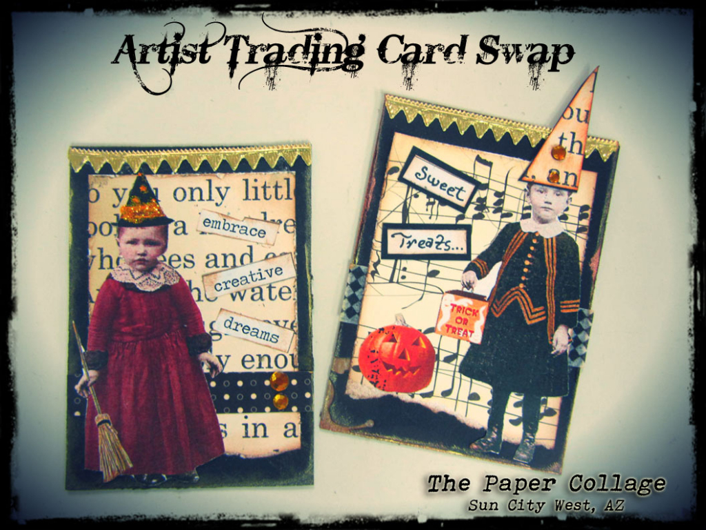 The Paper Collage: Artist Trading Card Swap | Printable Artist Trading Card Labels
