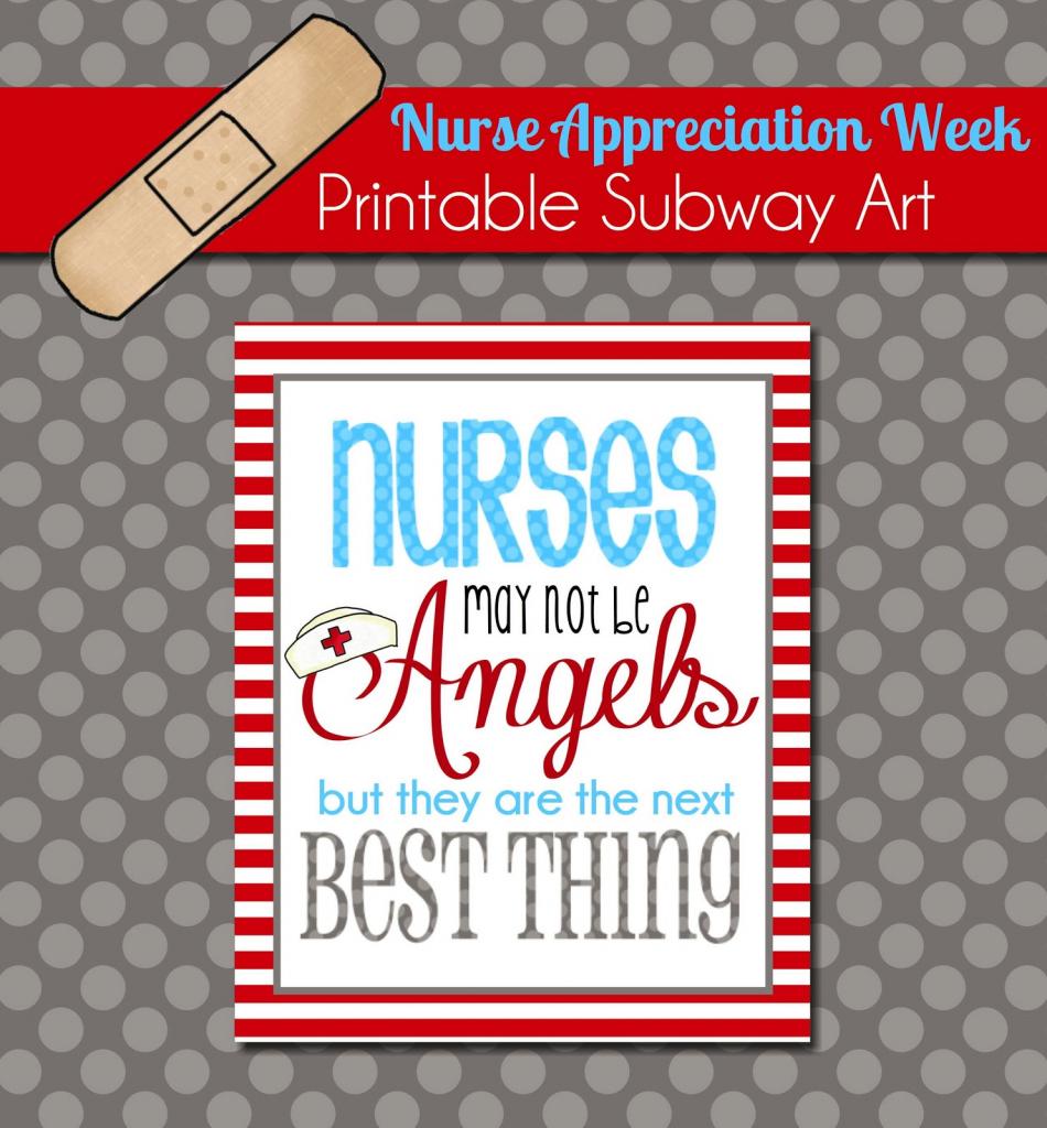 The Polka Dot Posie: Brighten A Nurse's Day With This Free Printable | Nurses Week 2016 Cards Free Printable
