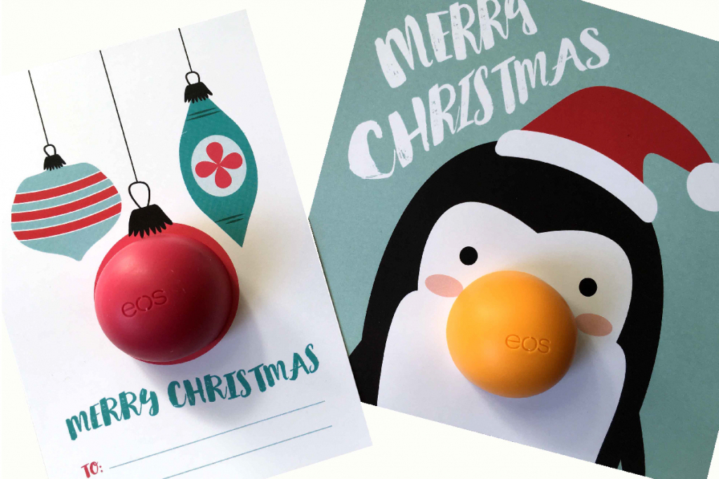 These Eos Christmas Free Printables Are The Best Small Gift Idea Ever | Make A Holiday Card For Free Printable