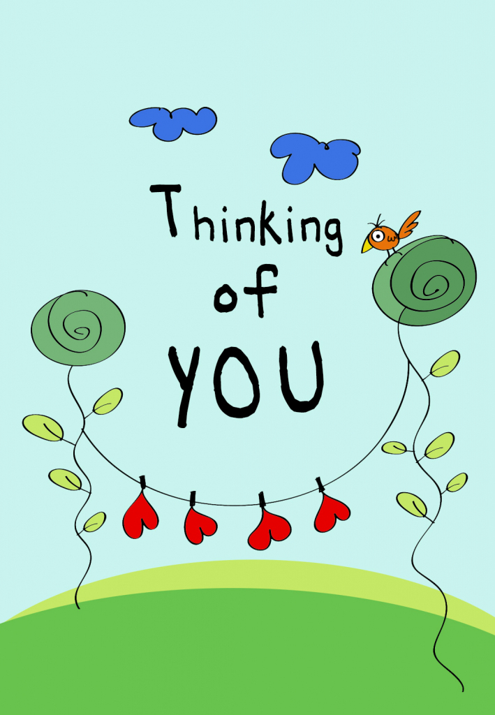 Thinking Of You - Love Card (Free)   Greetings Island   Free Printable Funny Thinking Of You Cards