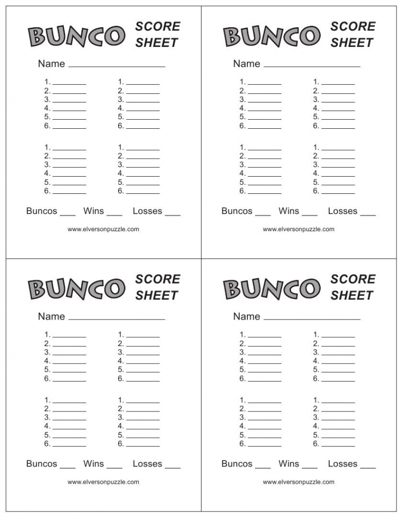 This Is The Bunco Score Sheet Download Page. You Can Free Download | Printable Bunco Score Cards Free