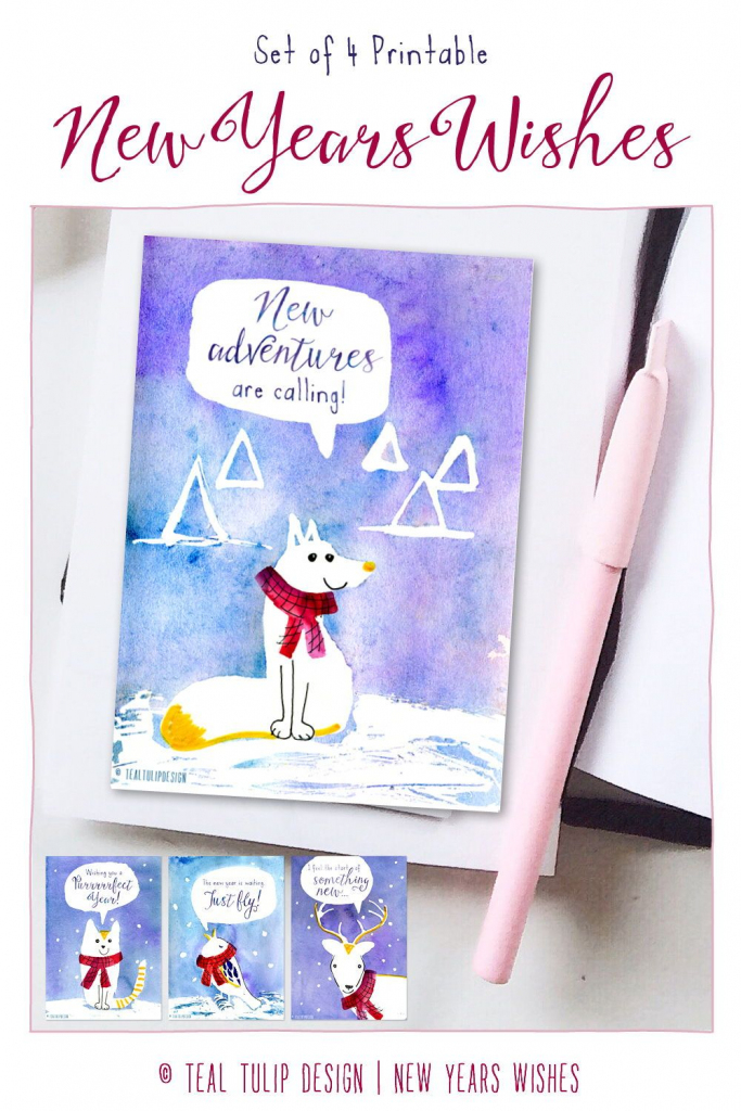 This Pack Of 4 Christmas Cards Is The Perfect Way To Greet Your   Christmas Cards For Loved Ones Printables