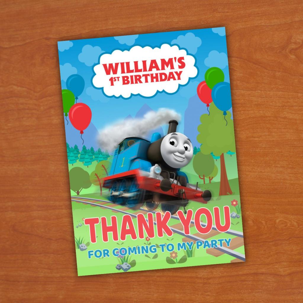 Thomas & Friends Birthday Thank You Card Thomas And Friends | Etsy | Thomas Thank You Cards Printable