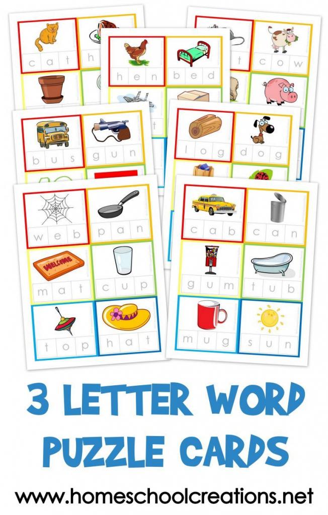 Three Letter Word Cards ~ Free Printable | Kindergarten Stuff | 3 | Printable Cvc Word Cards