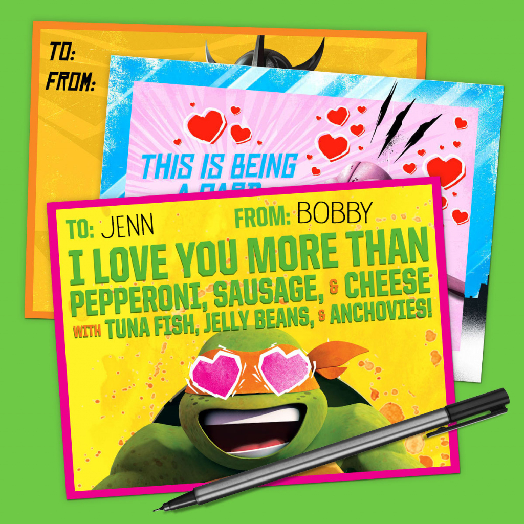 Tmnt Valentine's Day Cards | Nickelodeon Parents | Teenage Mutant Ninja Turtles Printable Valentines Day Cards