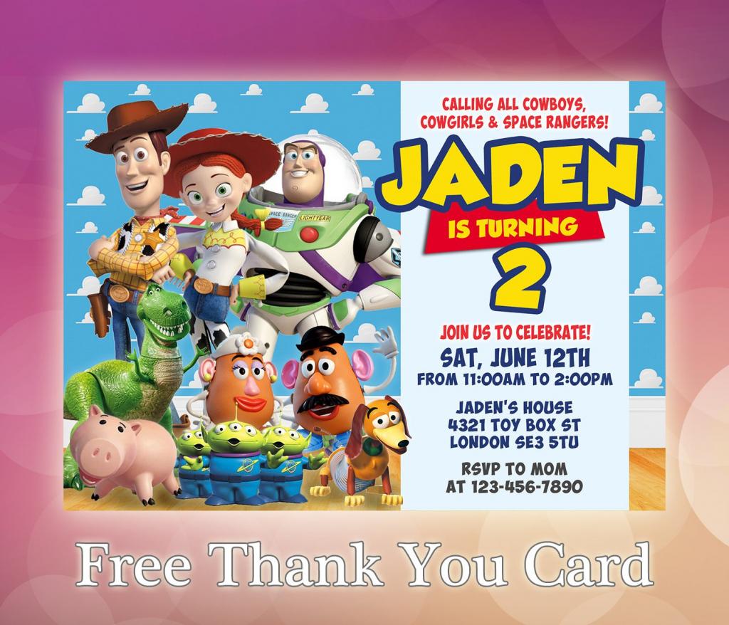 Toy Story Invitation / Toy Story Birthday Invitation / Toy   Etsy   Toy Story Birthday Card Printable Free