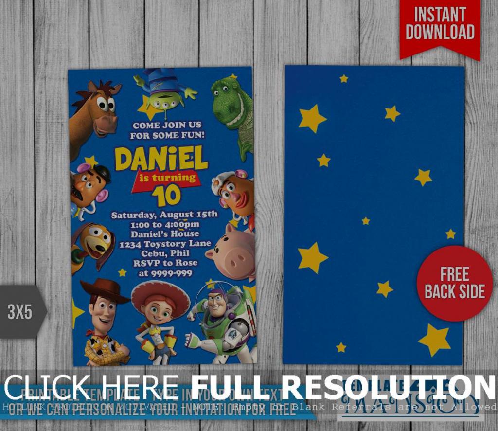 Toy Story Invitations Printable Free - Canas.bergdorfbib.co   Toy Story Birthday Card Printable Free