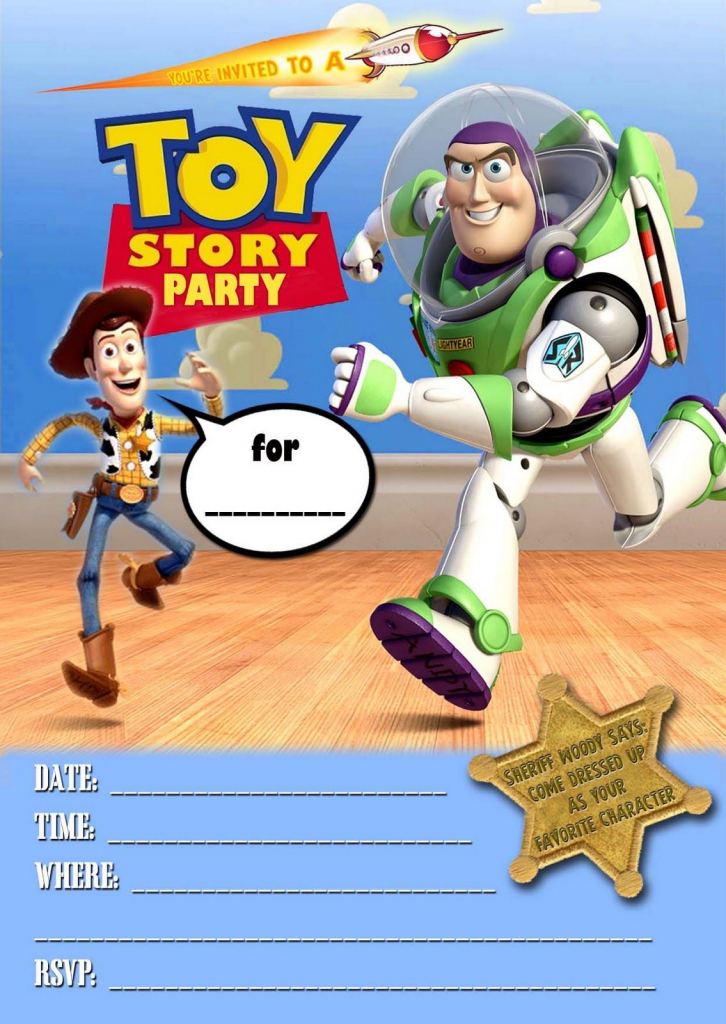 Toy Story Invitations Template Free - Under.bergdorfbib.co   Toy Story Birthday Card Printable Free