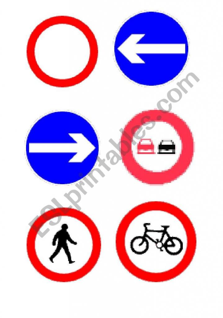 Traffic Signs Flashcards - Esl Worksheethedgehog18 | Printable Road Signs Flash Cards