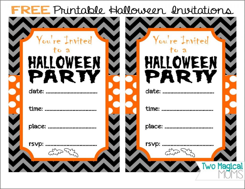 Two Magical Moms: Free Printable Halloween Invitations | Free Printable Halloween Place Cards