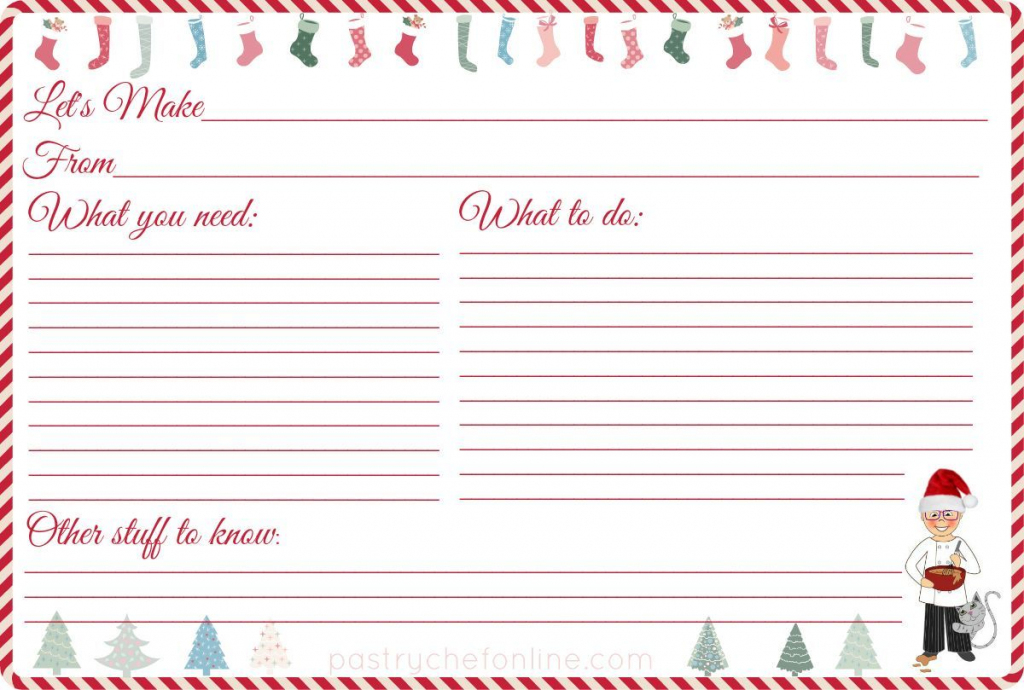 Type And Print Recipe Cards - Kleo.bergdorfbib.co   Printable Recipe Cards For Christmas