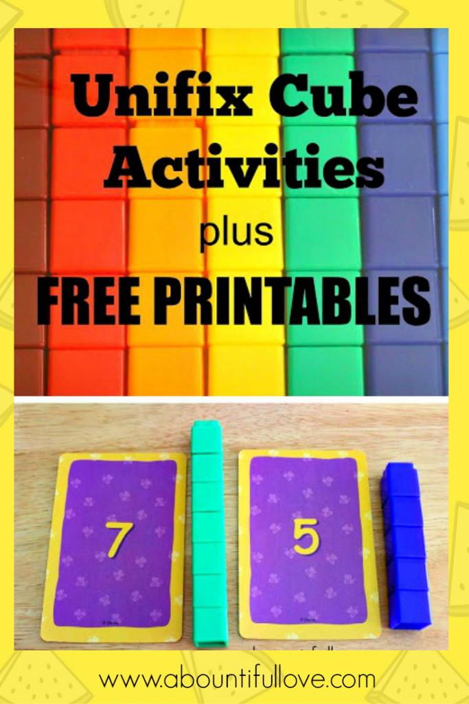 Unifix Cubes Activities Plus Free Printables | Snap Cards | Free Printable Snap Cards