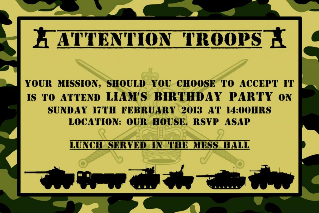 Unique Army Birthday Invitations Free Printable Party Awesome | Army Birthday Cards Printable
