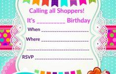 Updated – Free Printable Shopkins Birthday Invitation | Event | Printable Shopkins Birthday Card