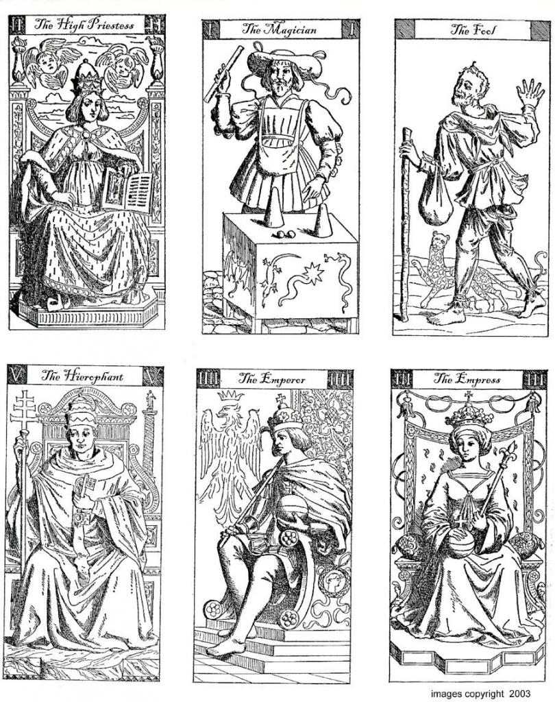 Vacchetta Tarot Deck - To Print And Colour | Digital Downlaod Sites | Printable Tarot Cards To Color
