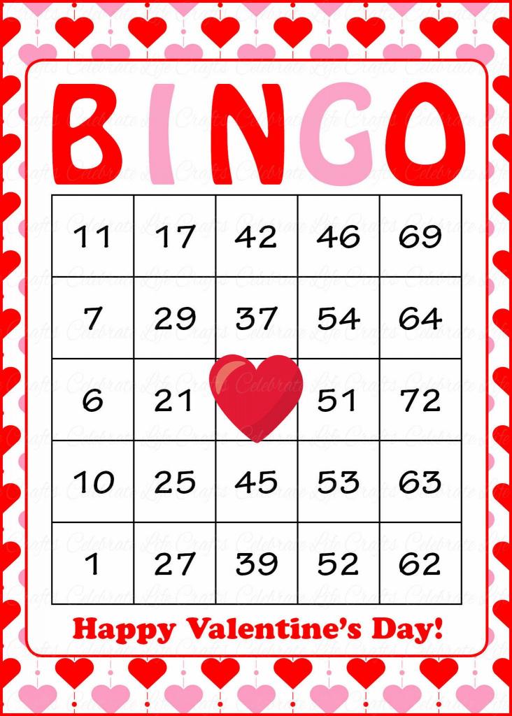 Valentine's Bingo Cards - Printable Download - Prefilled | Printable Hawaiian Bingo Cards